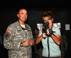 Alaska Governor Sarah Palin with a gun